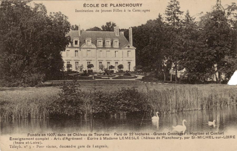 Vieille photo du Château de Planchoury